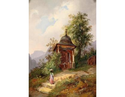 Krásné obrazy II-477 Neznámý autor - Lesní kaple v Berchtesgadenu