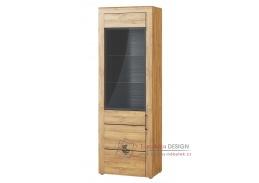 KAMA, 10 vitrína 1-dveřová, dub camargue / černá