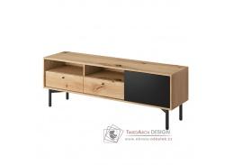 FORSO FRTV 151, televizní stolek, dub artisan / černá