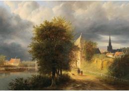 DDSO-4996 Georg Gillis van Haanen - Bouřkové mraky nad holandským městem
