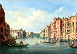 D-9306 Carlo Grubacs - Pohled na Canal Grande s Palazzo Cavalli-Franchetti a Palazzo Barbaro
