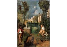 Slavné obrazy VII-107 Giorgione - Bouře