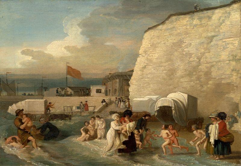 Slavné obrazy XI-107 Benjamin West - Koupaliště v Ramsgate