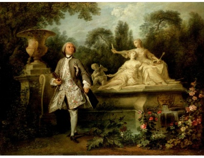 KO III-314 Nicolas Lancret - Portrét herce Grandvala