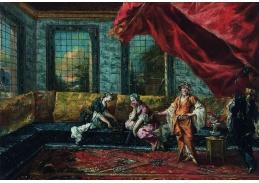 Slavné obrazy X-478 Giovanni Antonio Guardi a Francesco Guardi - Dvě odalisky v harému