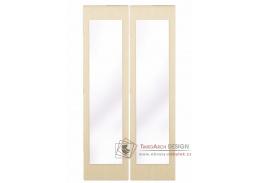 GRETA, posuvné dveře se zrcadlem ke skříni, jasan světlý - 2ks