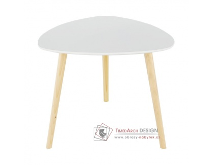 TAVAS, příruční stolek, natural / bílá
