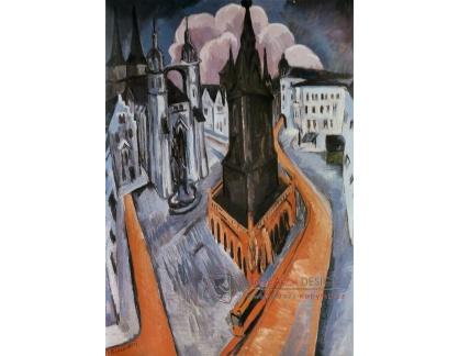 VELK 39 Ernst Ludwig Kirchner - Červené věže v Halle