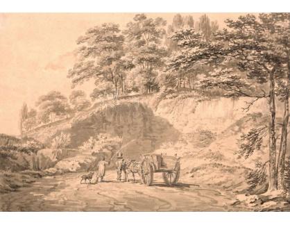 Joseph Mallord William Turner - Muž s koňským povozem v kamenolomu