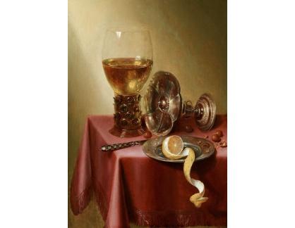 Slavné obrazy I-DDSO-272 Maerten Boelema de Stomme - Zátiší s pohárem vína a oloupaným citronem