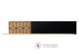 MOSAIC 35, závěsná police dlouhá, dub / černá