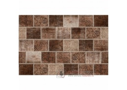 ADRIEL 2, koberec 80x150cm, hnědý patchwork