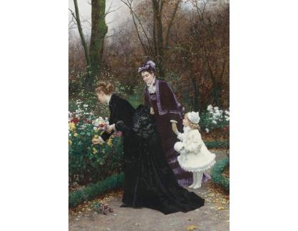 Krásné obrazy II-392 Marie-Francois Firmin-Girard - V zahradě