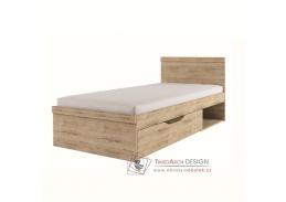 ORESTES, postel s ÚP 90x200cm, dub san remo