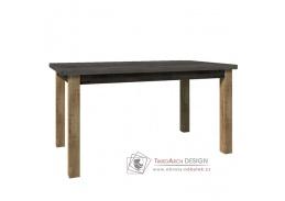 MONTANA STW, jídelní rozkládací stůl, dub lefkas tmavý / smooth šedý