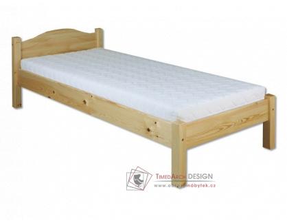 KL-124, postel 100x200cm, borovicový masiv
