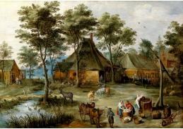 BRG-131 Jan Brueghel a Joos de Momper - Vesnická scéna