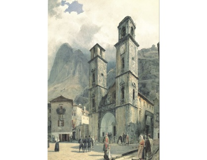 VALT 111 Rudolf von Alt - Katedrála Square v Cattaro