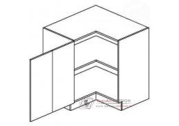 Dolní rohová skříňka DRPL GOBI 80x80cm šedá / dub sonoma - levá