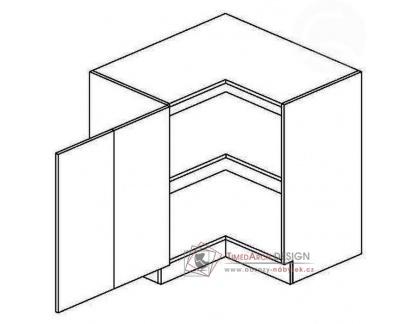 GOBI, dolní skříňka rohová DRPL 80x80cm - levá, šedá / dub sonoma
