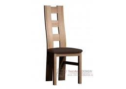 Jídelní čalouněná židle I dub san remo / látka krémová