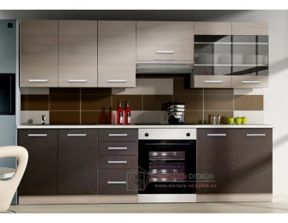 CHAMONIX II, kuchyně 240cm, dub ferrara / dub tmavé legno