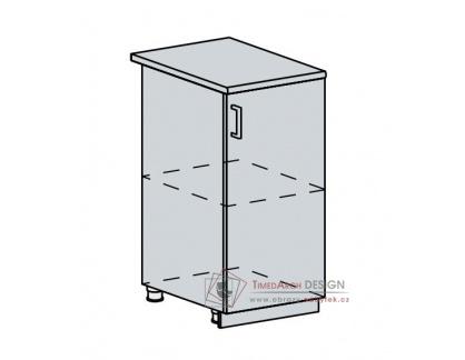 VALERIA, dolní skříňka 1-dveřová 40D, bílá / wenge