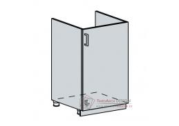 VALERIA, dolní skříňka 1-dveřová pod dřez 50DZ, bílá / black stripe