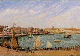 VCP-100 Camille Pissarro - Sluneční odpoledne v zálivu v Dieppe