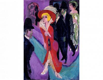 VELK 79 Ernst Ludwig Kirchner - Prostitutka v červeném