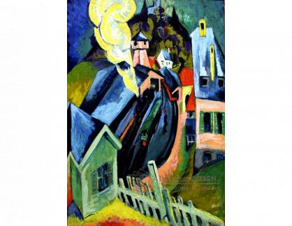 VELK 84 Ernst Ludwig Kirchner - Nádraží v Königsteinu