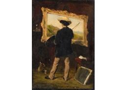Slavné obrazy XVII-1 Attilio Simonetti - Umělec v jeho studiu