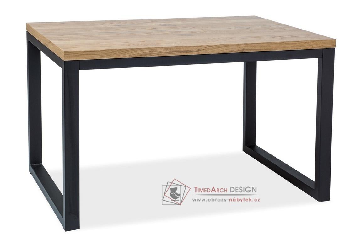 Jídelní stůl 120x80cm LORAS II černá / dýha dub