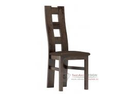 Jídelní čalouněná židle I jasan tmavý / látka tmavě hnědá