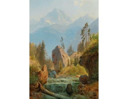 DDSO-5360 Albert August Zimmermann - Horská krajina s potokem