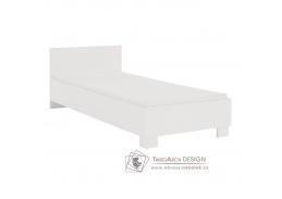 SVEND, postel 90x200cm, bílá