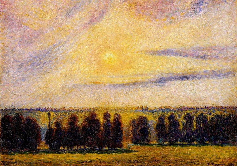 VCP-466 Camille Pissarro - Západ slunce v Eragny