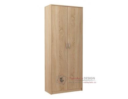 MAX 6, policová skříň 74 cm, bílá dub sonoma