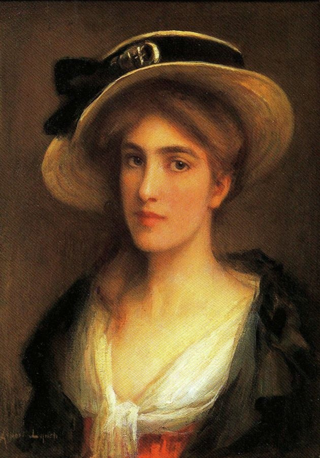 VSO105 Albert Lynch - Mladá žena s kloboukem
