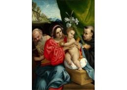 VLL 24 Lorenzo Lotto - Panna a dítě se svatýmii