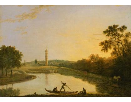 Slavné obrazy XIV-66 Richard Wilson - Krajina Kew Gardens