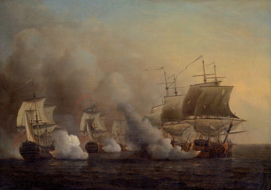 Slavné obrazy XIV-95 Samuel Scott - Bitva u Mysu dobré naděje