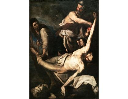 Krásné obrazy II-258 José de Ribera - Umučení svatého Bartoloměje