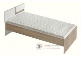 APETTITA 12, postel 90x200cm, dub jasný / bílá