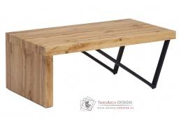 AHG-255 OAK, konferenční stolek, černá / dub divoký
