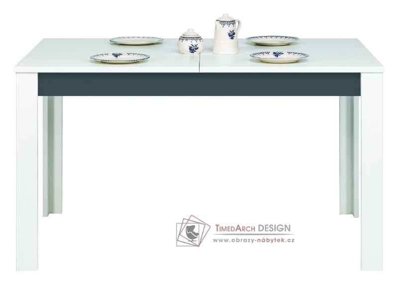 GRAY, Jídelní stůl rozkládací GR 11 bílá / grafit
