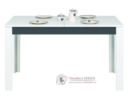 GRAY GR 11, Jídelní stůl rozkládací, bílá / grafit