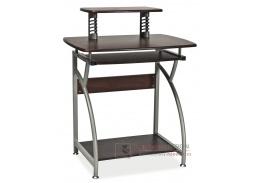 B-07, pracovní stůl, aluminium / tmavě hnědá