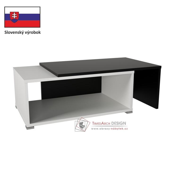 Konferenční stolek DRON bílá / černá