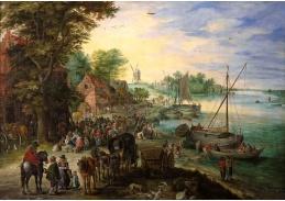 BRG-88 Jan Brueghel - Rybí trh na břehu řeky